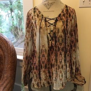 Jessica Simpson Open Neck Blouse